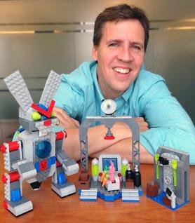 Jeff Kinney with Poptropica Lego Set
